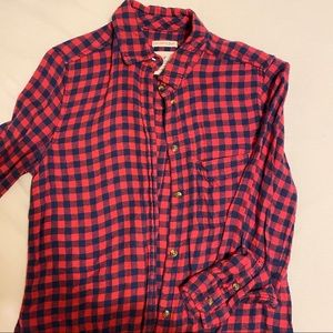 AE Flannel - navy/red